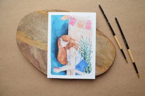 Láminas ilustradas colores azules