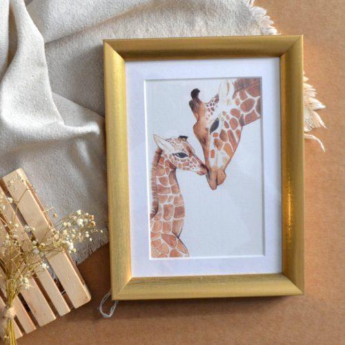 Lámina ilustrada jirafa