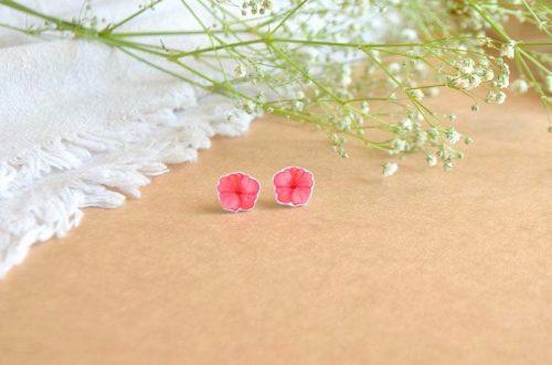 pendientes hibiscus joyería ilustrada