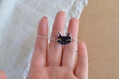 pulsera gato negro