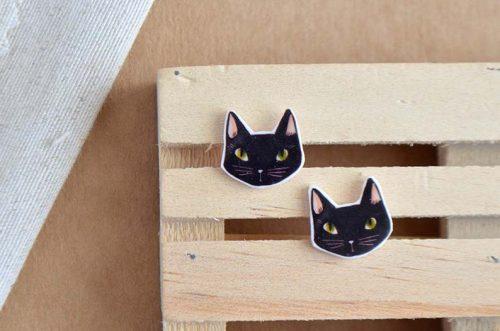 pendientes gatos joyería ilustrada