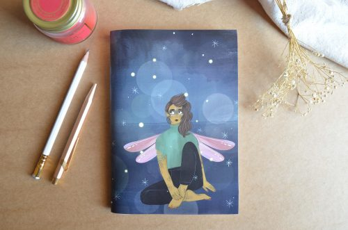 Libreta mujer libélula