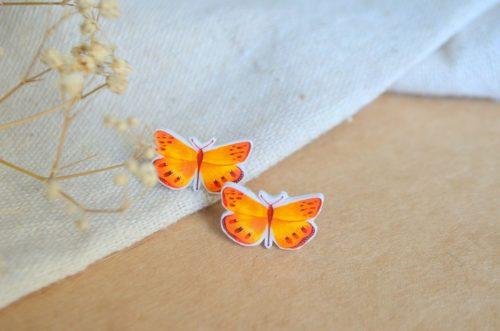 Pendientes mariposa amarilla